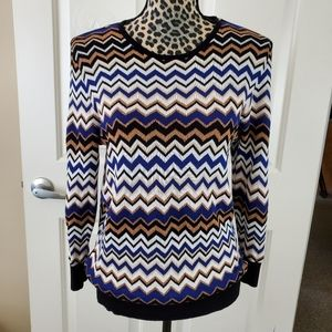Alfred Dunner Chevron Sweater